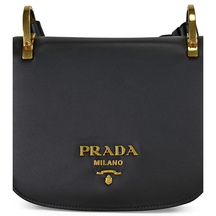 76fe64c1cf4e ... discount prada pionniere leather shoulder bag black 2c16e 3438c ...