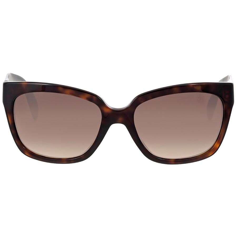 prada prada poeme tortoise shell square sunglasses