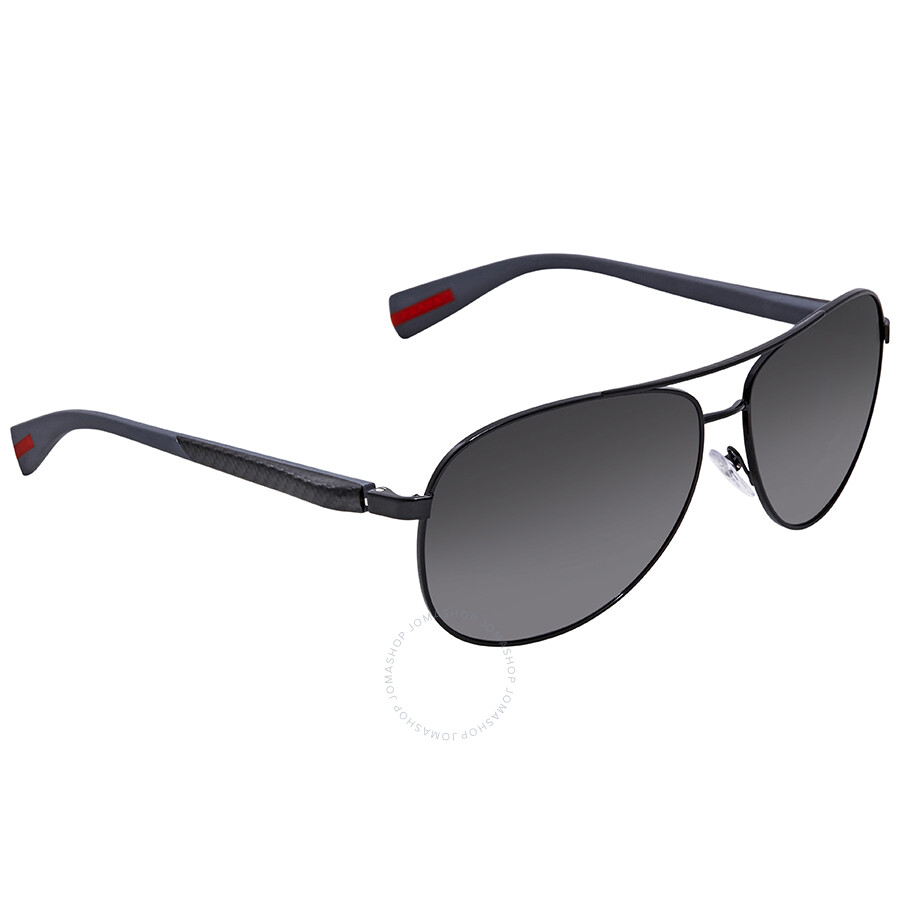 6a49e8bc2e65 ... get prada polarized grey gradient aviator mens sunglasses ps 51os  7ax5w1 62 47da8 5757d
