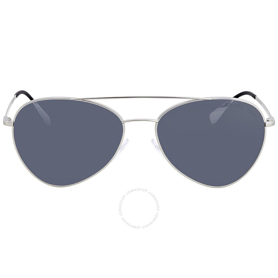 0321f2d440 ... 50% off prada polarized grey mirror gradient silver 60 mm aviator  sunglasses ps 50ss 1ap2f2