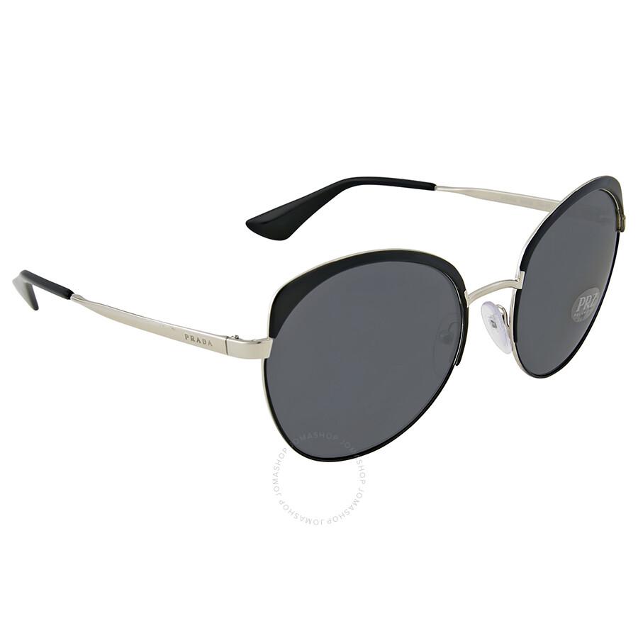 Sunglasses 54Ss Black, 59 Prada
