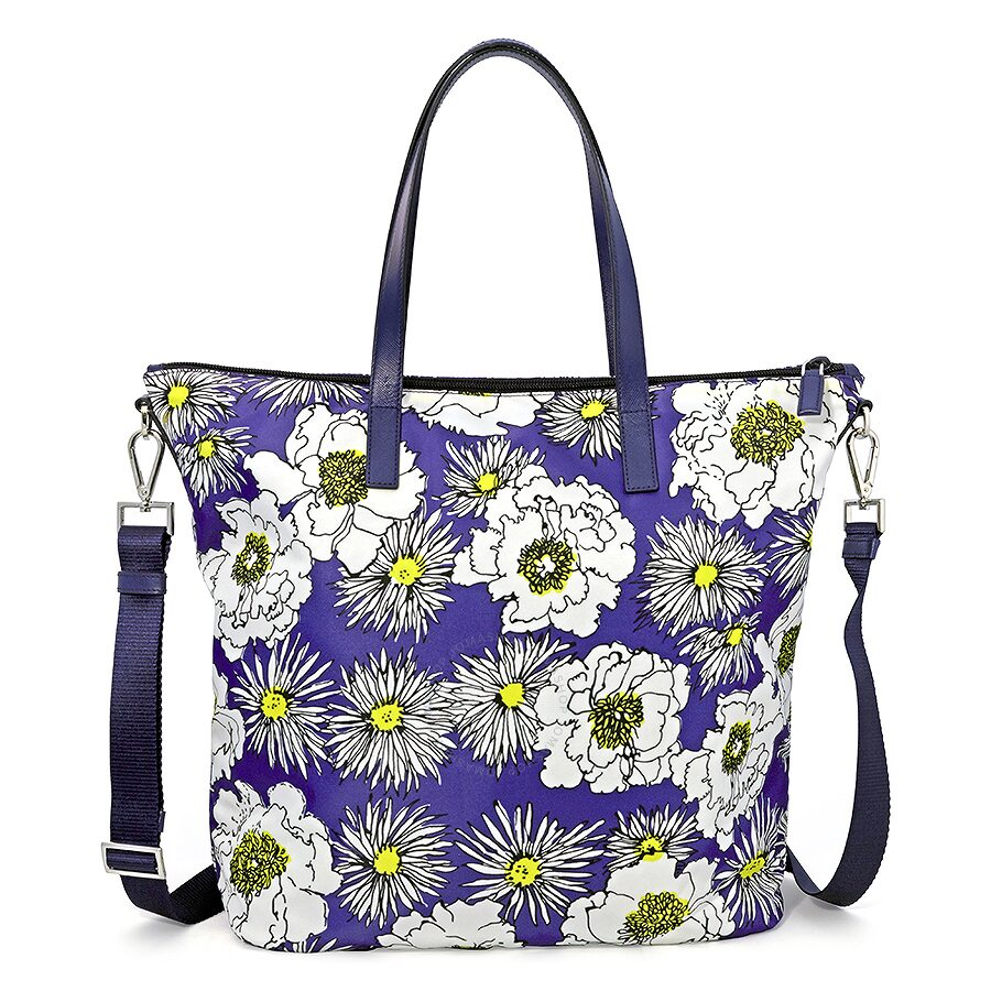 ab2cf8891beb ... uk prada printed nylon tote bluette fiore 938d4 fd390 czech prada  handbag ...