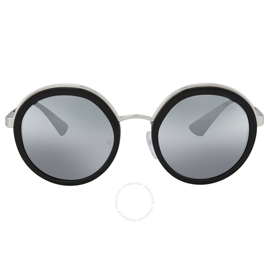 3542a489e36 ... new style prada round grey mirror silver gradient sunglasses 082ad 10b68