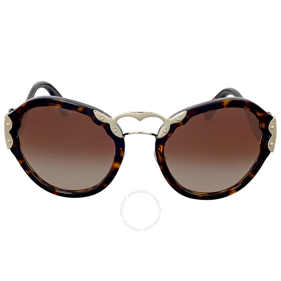 d1da39f8eb9 ... new zealand prada round light gold tone and tortoise sunglasses 22f19  9a14d