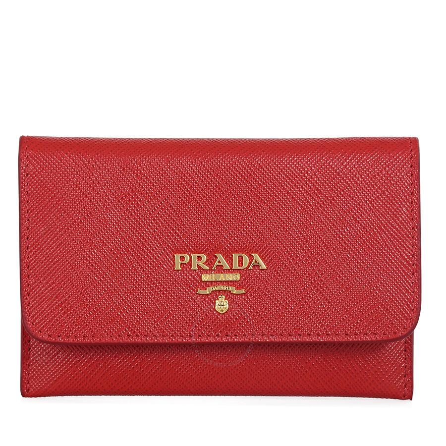598812adde2e best price prada saffiano leather credit card holder 2b9ab 65f35; clearance prada  saffiano leather credit card holder fuoco 0955f e638d