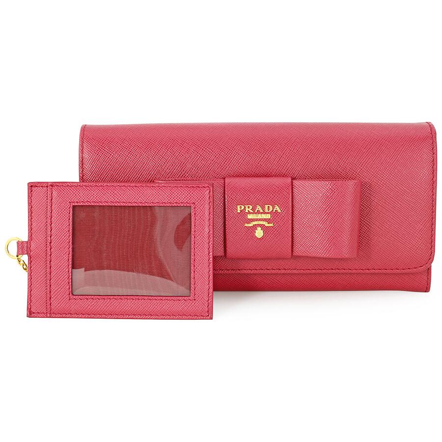 0e7e2c0add92 ... italy prada saffiano leather fiocco continental wallet ibisco bb5a8  8e580