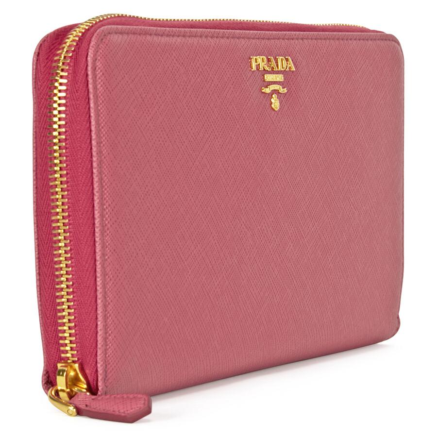 zip-around Saffiano wallet - Pink & Purple Prada cQIIv1