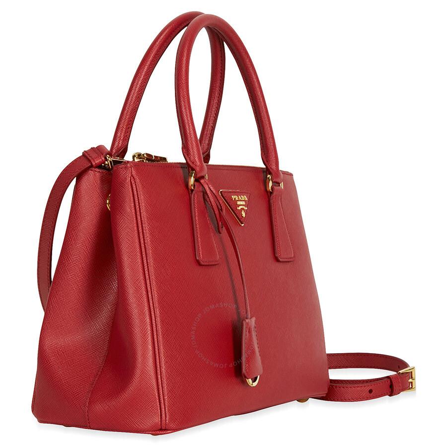 dec7cb41bf ... coupon prada small lux double zip saffiano leather tote fuoco feefd  a56c6