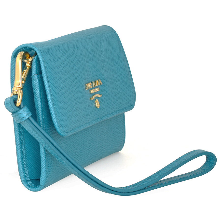 6e79d68d08ae60 ... order prada small saffiano leather wallet celeste e6576 6c01b