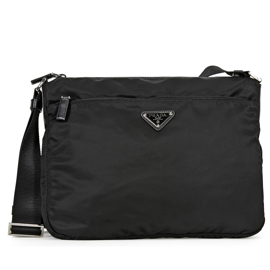 3c93dd3aaee3 ... promo code for prada vela nylon shoulder bag black 14db0 ad18e ...