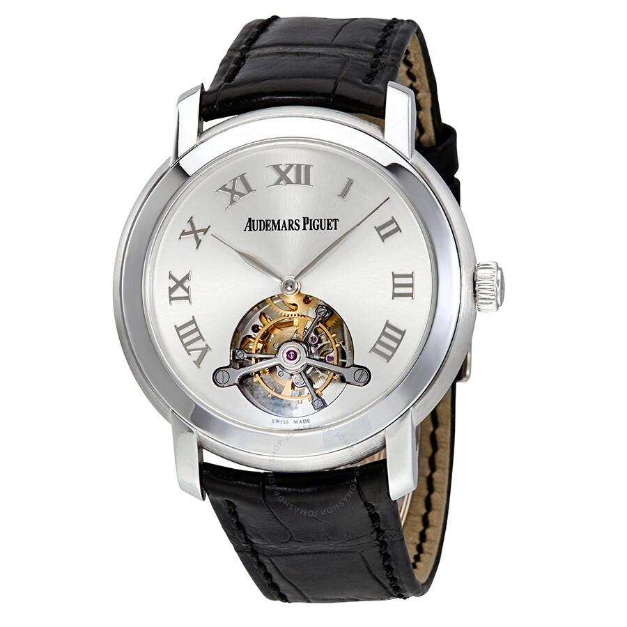 Pre-owned Audemars Piguet Jules Audemars Tourbillion Silver Dial Mens Watch ..
