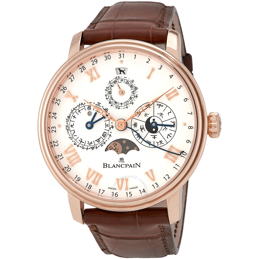 Pre-owned Blancpain Villeret Tradition Calendrier Chinois Traditionnel 18K R..