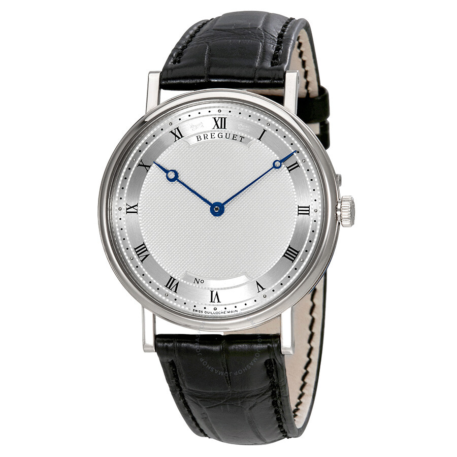 Pre-owned Breguet Classique Automatic Ultra Slim Silver Dial Leather Mens Wa..