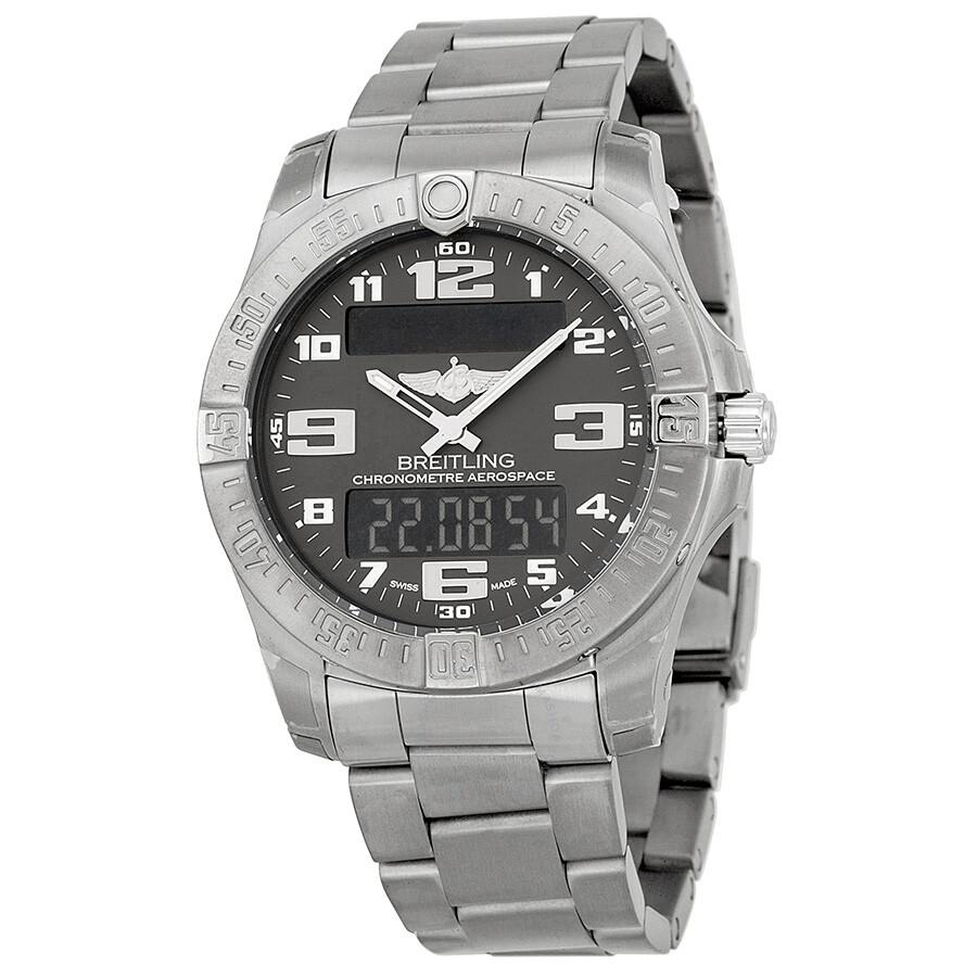 Pre-owned Breitling Aerospace Evo Grey Dial Watch E7936310-F562TI