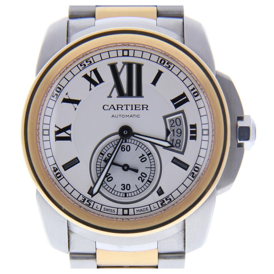 Pre-owned Cartier Calibre de Cartier Automatic White Dial Mens Watch 3389