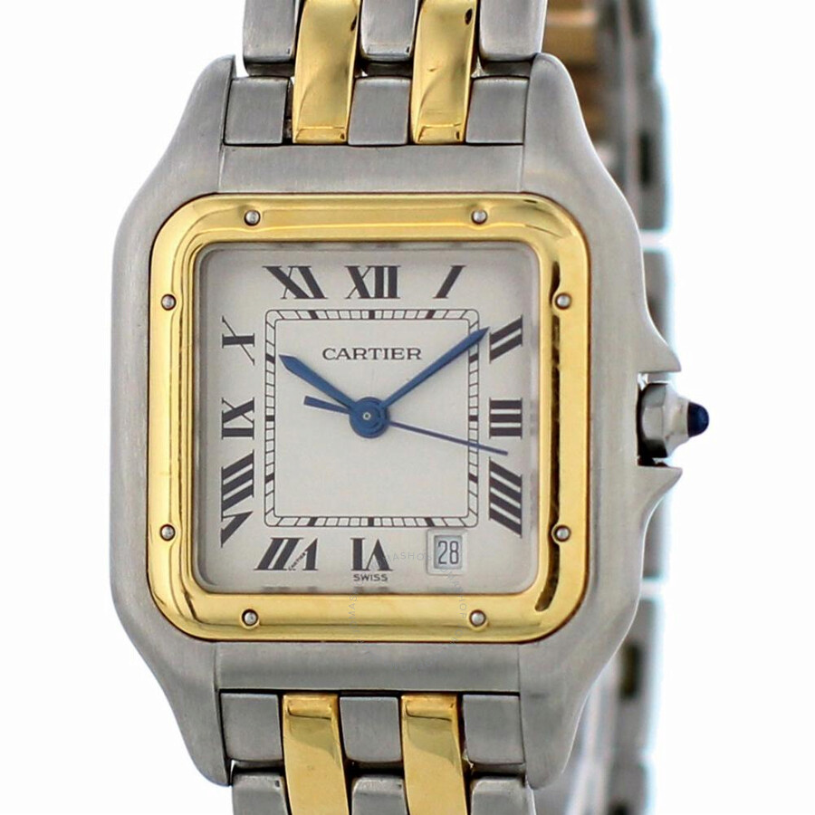 Pre-owned Cartier Panthere White Dial Ladies Watch 1120