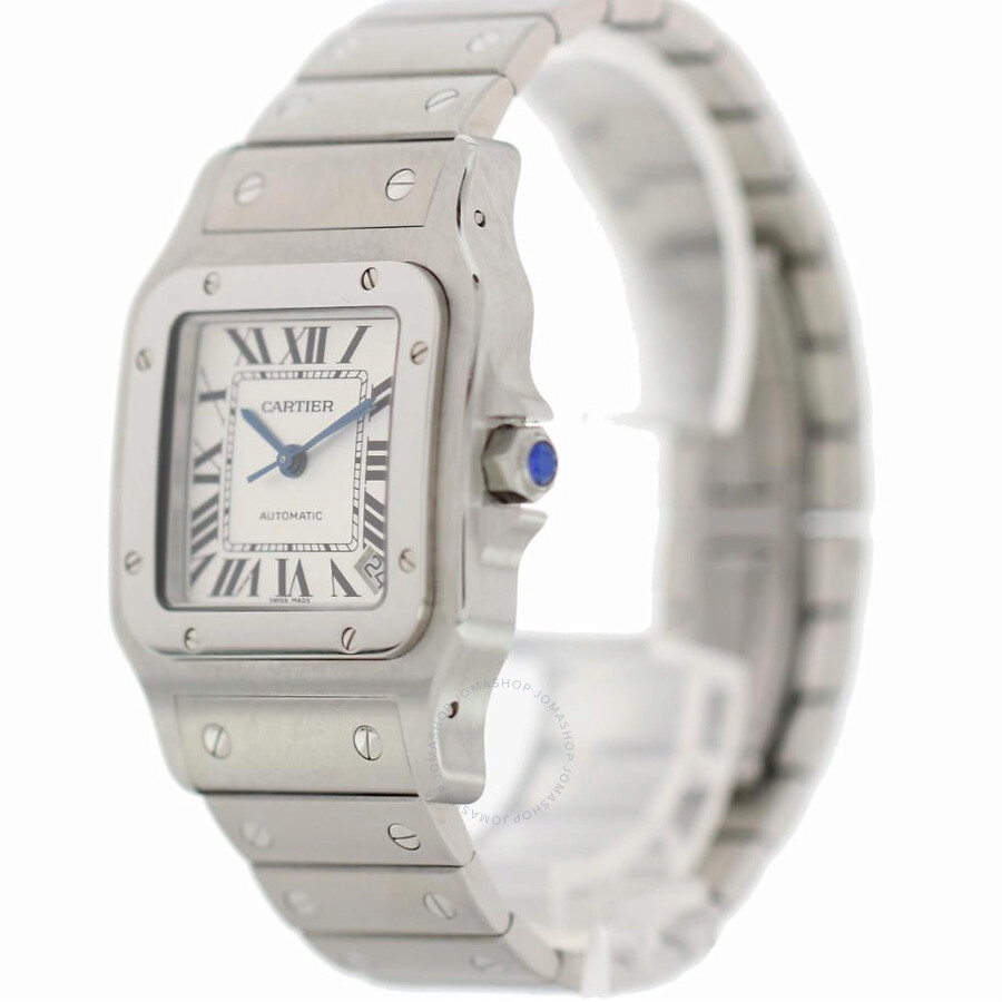 galvanized men gray dial s dumont watch flinque watches cartier santos