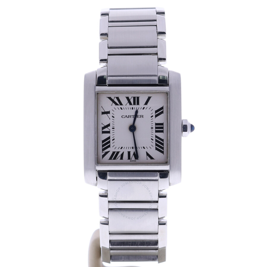 watches gold white large ref silver anglaise product tank dial cartier