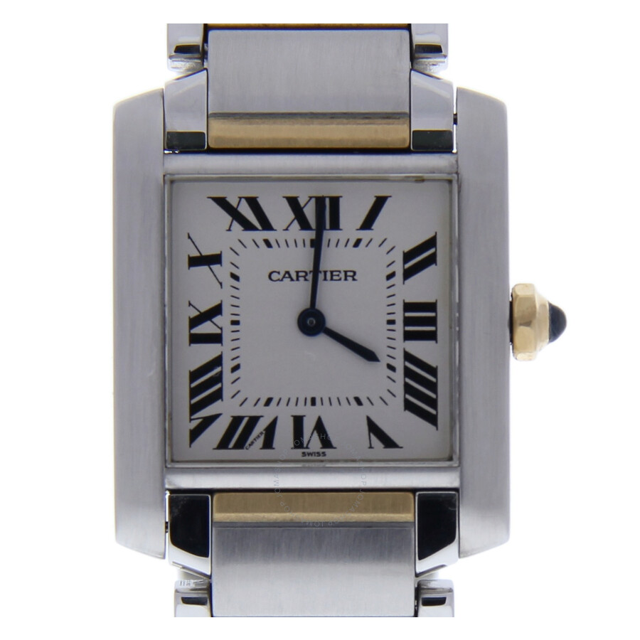 Pre-owned Cartier Tank Francaise White Dial Ladies Watch 2301