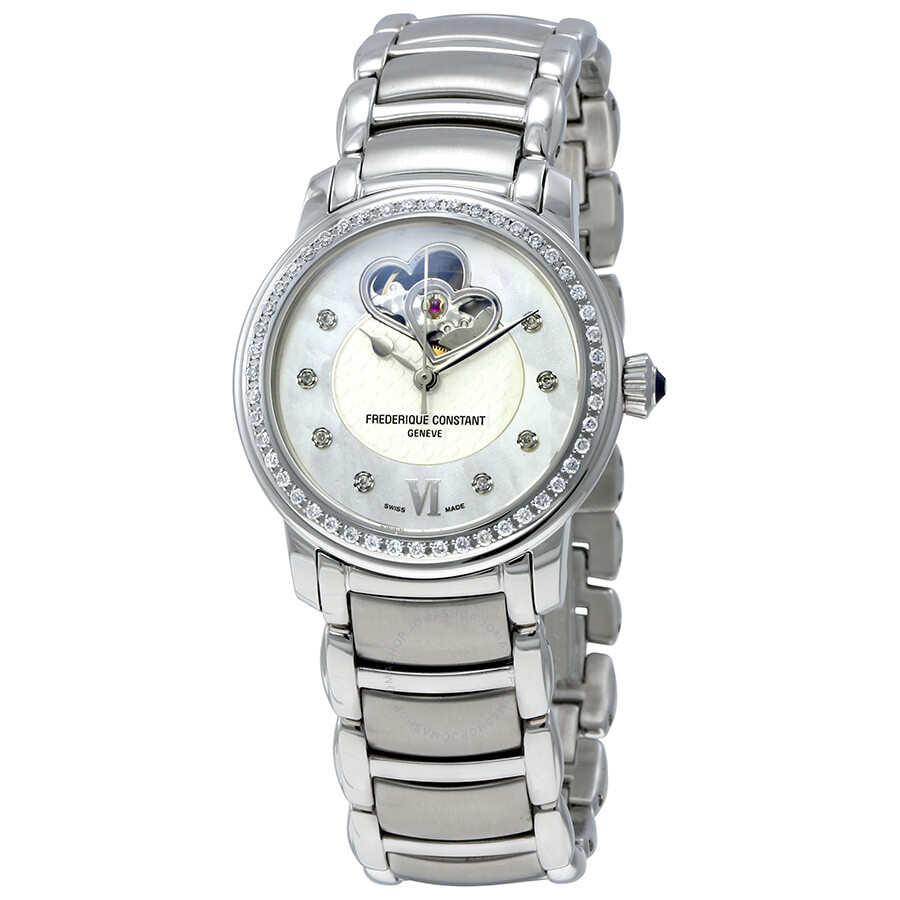 Pre-owned Frederique Constant White Mother of Pearl Ladies Watch FC-310DHB2P..