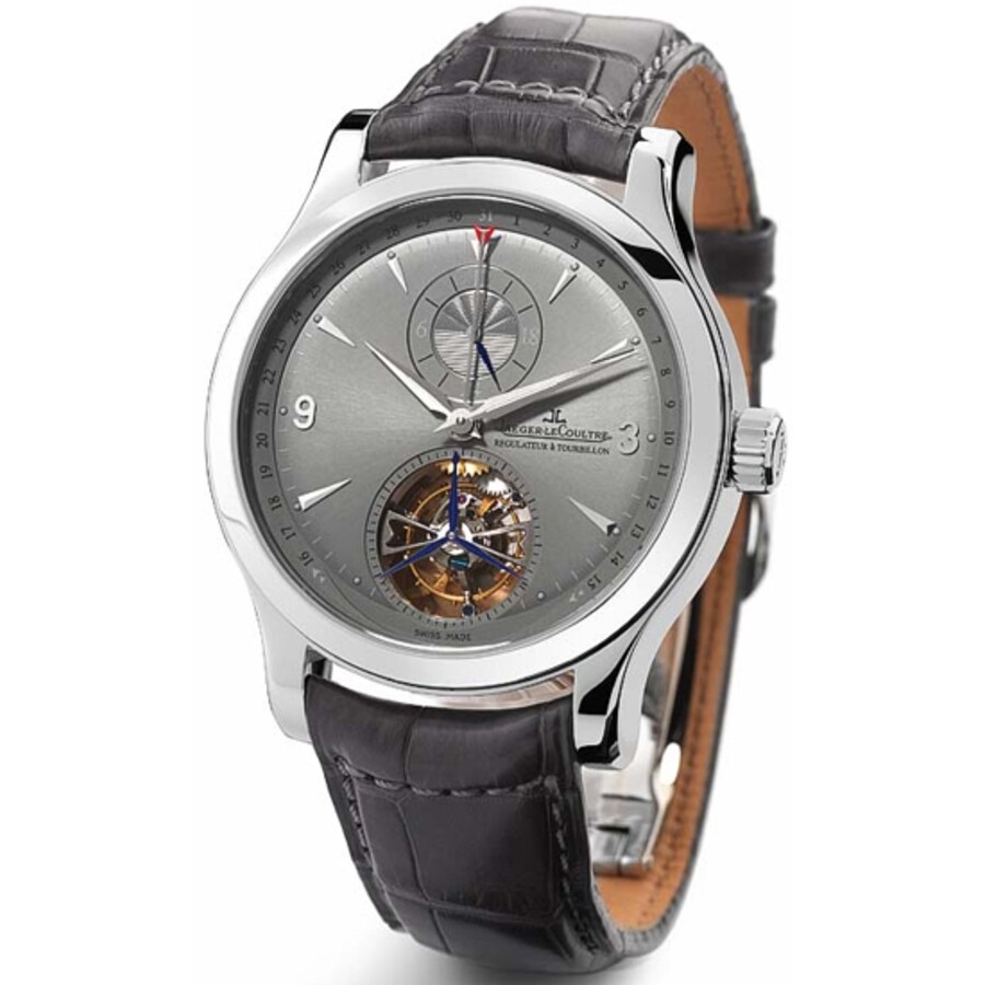 Pre-owned Jaeger LeCoultre Master Grand Tourbillon World Time Automatic Grey..