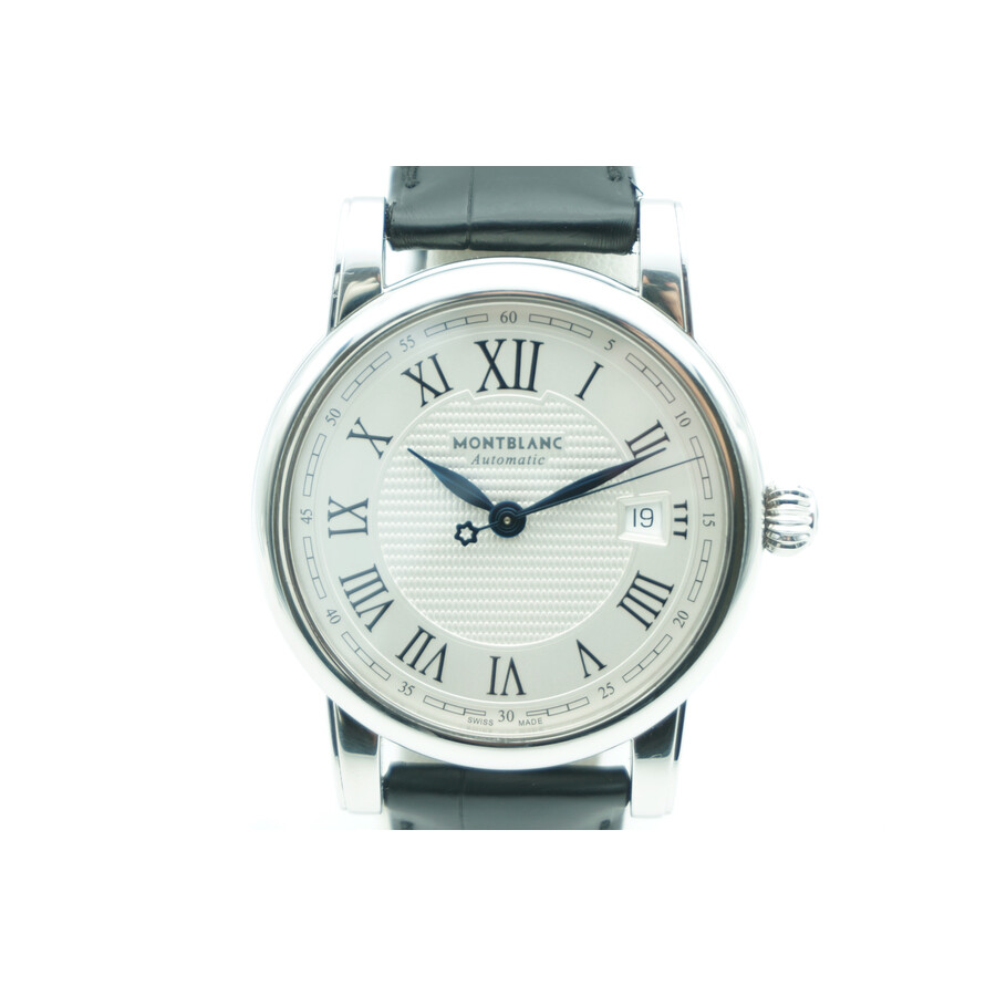 blanc mont watches grey watch dial silver img