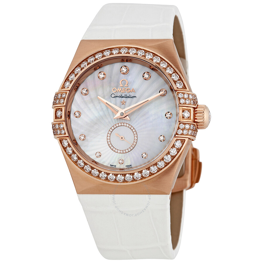 Pre-owned Omega Constellation Mother of Pearl Diamond Dial Ladies Watch 123...