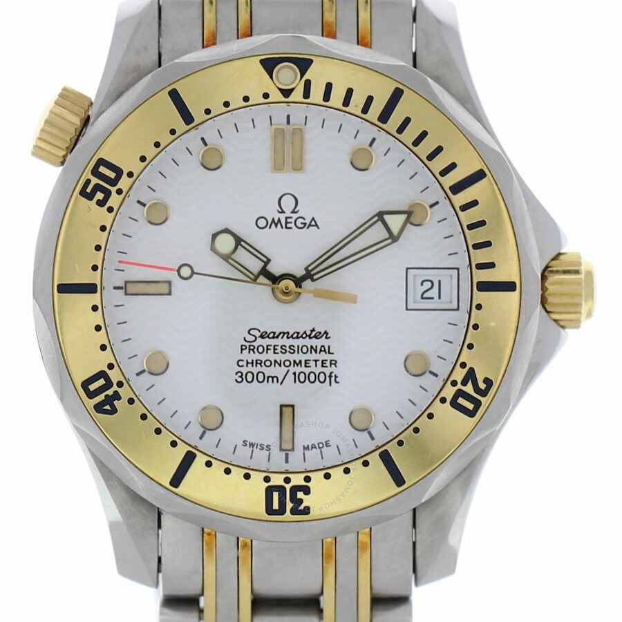 Pre-owned Omega Seamaster 300 Automatic White Dial Mens Watch 236.22.000