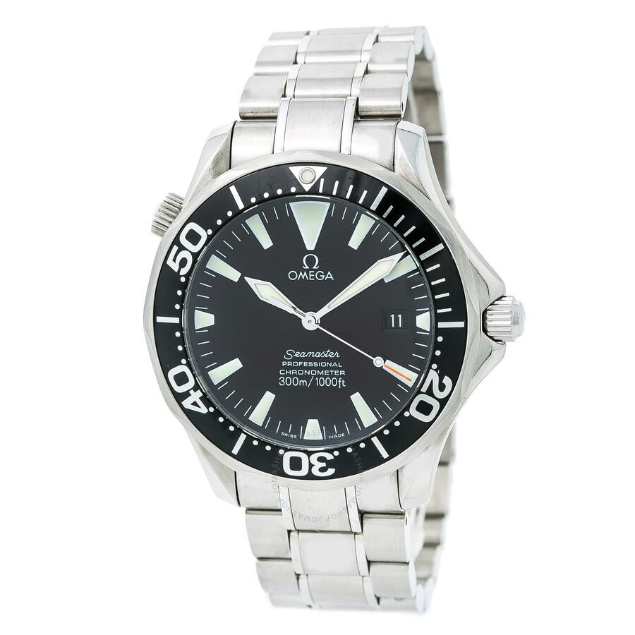 pre owned omega seamaster automatic chronometer black dial. Black Bedroom Furniture Sets. Home Design Ideas