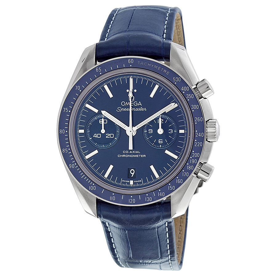 Pre-owned Omega Speedmaster Moonwatch Blue Dial Chronograph Mens Watch 31193445103001