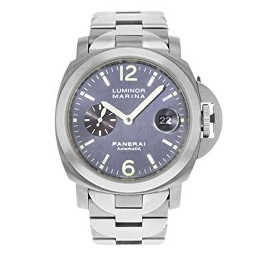 Pre-owned Panerai Luminor Marina Automatic Chronometer Blue Dial Mens Watch ..