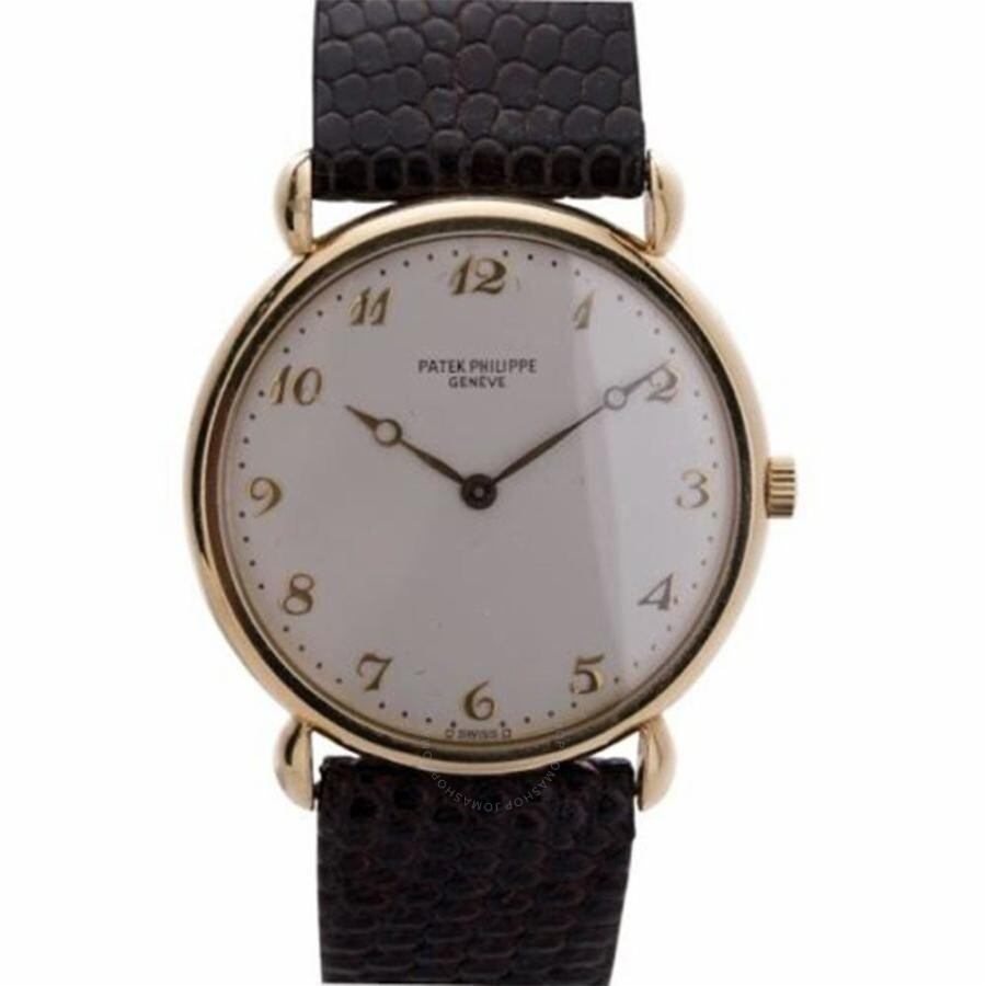 Pre-owned Patek Philippe Calatrava White Dial Mens Watch 3820