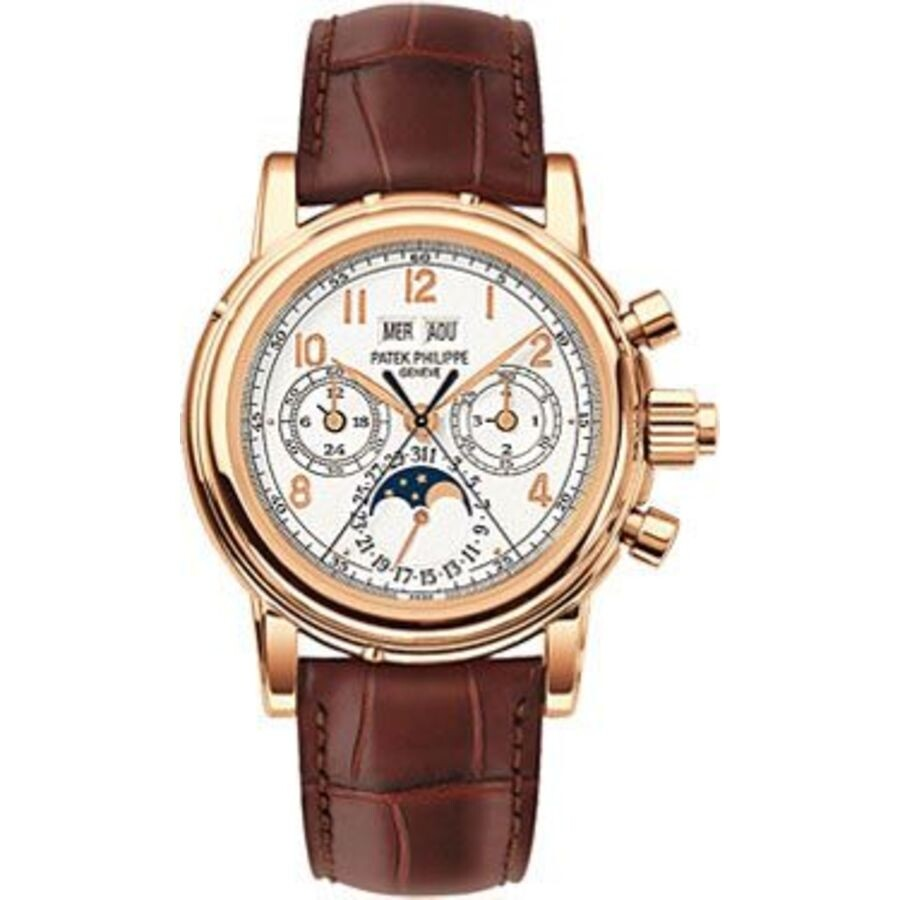 Pre-owned Patek Philippe Complications Mens Watch 5004R-001