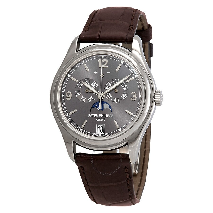 Pre-owned Patek Philippe Complications Slate Grey Dial Automatic Mens Annual..