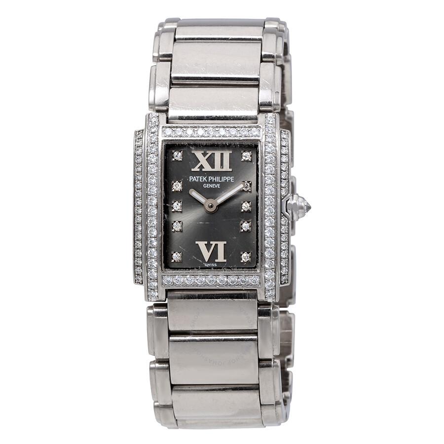 Pre-Owned Patek Philippe Twenty-4 18kt White Gold Diamond Ladies Watch 4908-..