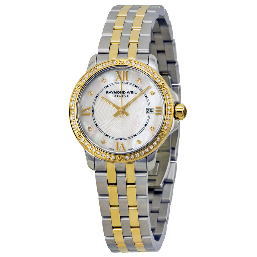 Pre-owned Raymond Weil Tango Mother of Pearl Dial Ladies Watch 5391-SPS-00995
