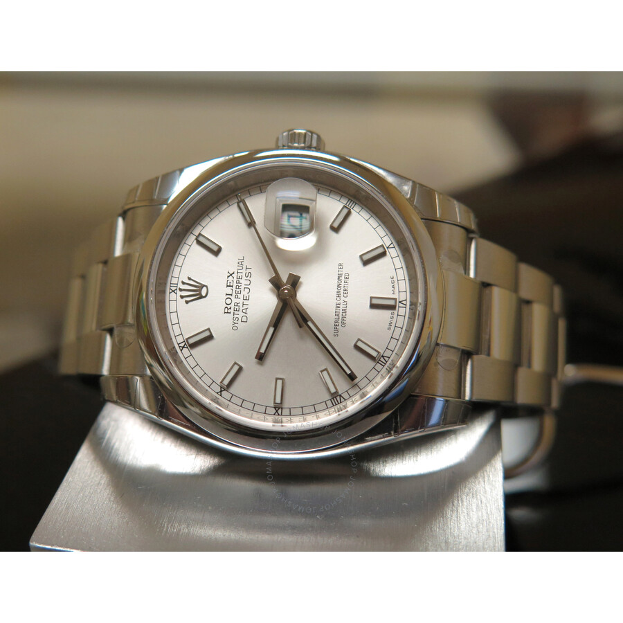 Pre-owned Rolex Datejust 36 Automatic Chronometer Silver
