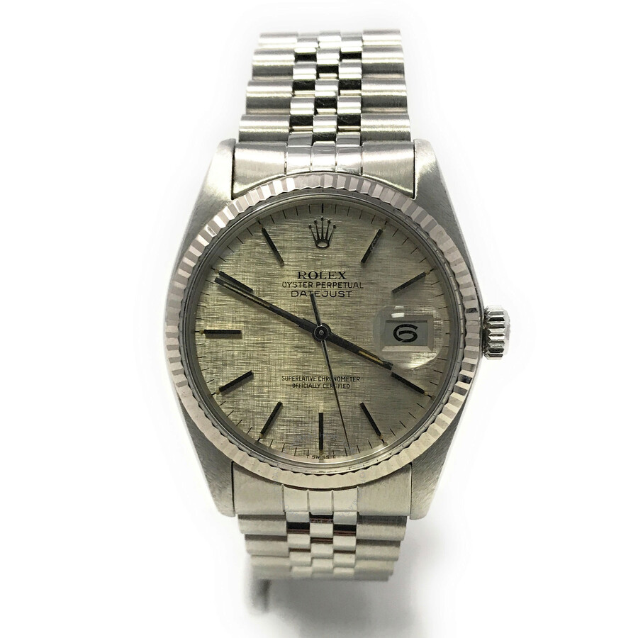 Pre-owned Rolex Datejust 36 Automatic Chronometer Silver Dial Mens Watch 160..