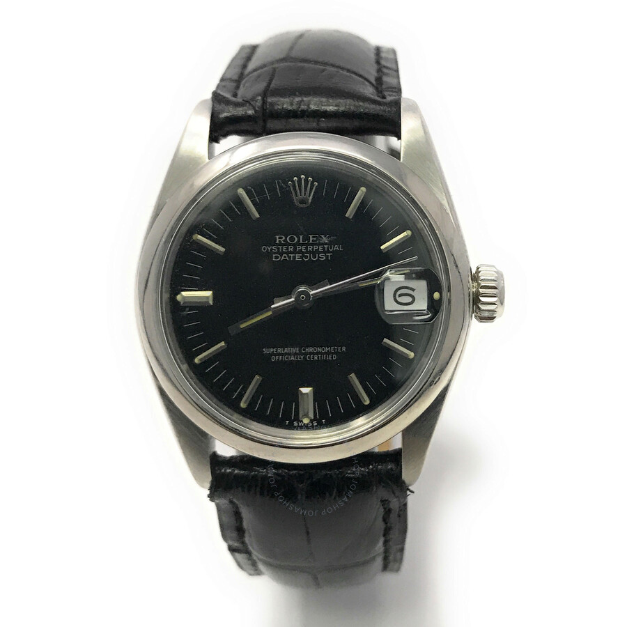 Pre-owned Rolex Datejust Automatic Chronometer Black Dial Ladies Watch 6824 ..