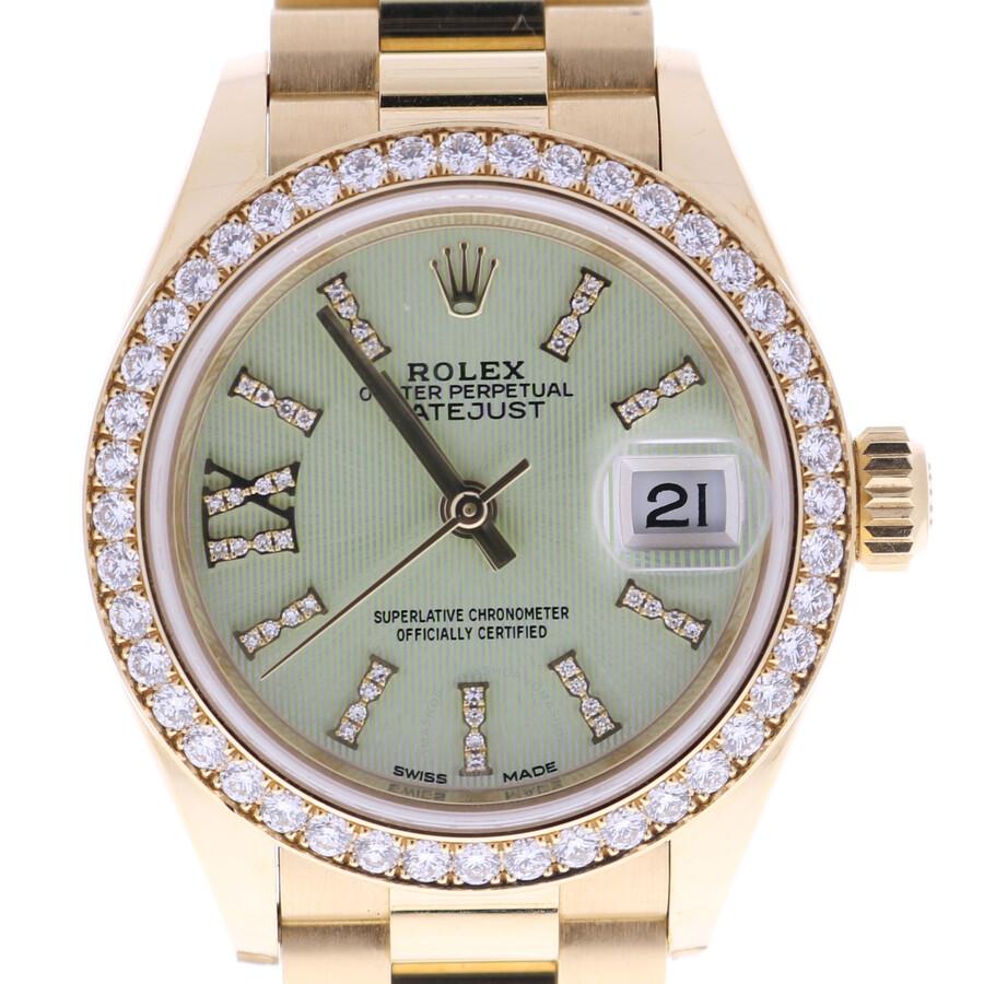 10. Rolex Sky-Dweller Sundust Dial 18K Everose Gold Watch