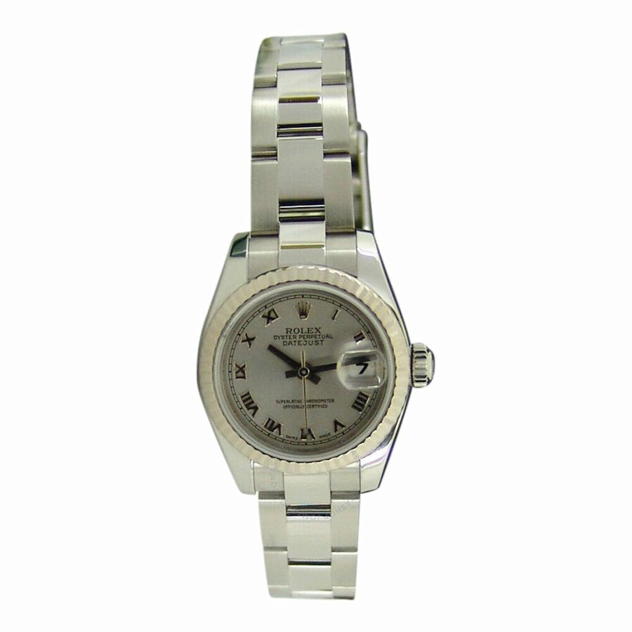 Pre-owned Rolex Datejust Automatic Chronometer Silver Dial Ladies Watch 1791..