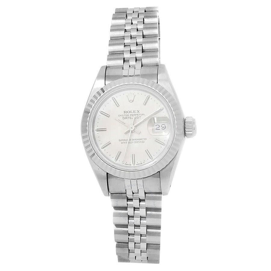 Pre-owned Rolex Datejust Automatic Chronometer Silver Dial Ladies Watch 6917..