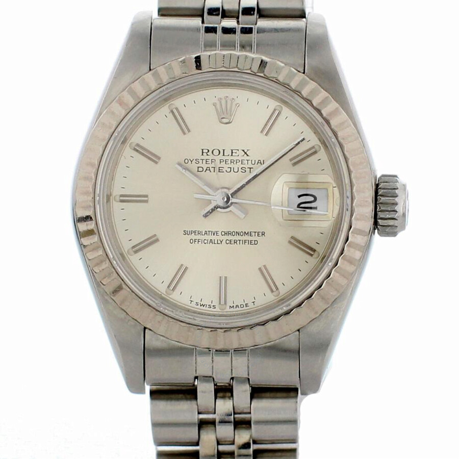 Pre-owned Rolex Datejust Automatic Chronometer Silver Dial Ladies Watch 69174
