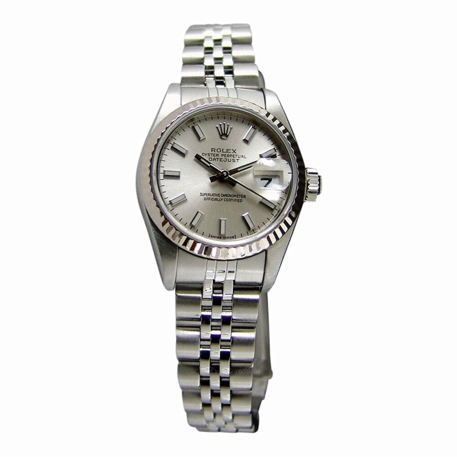 Pre-owned Rolex Datejust Automatic Chronometer Silver Dial Ladies Watch 7917..