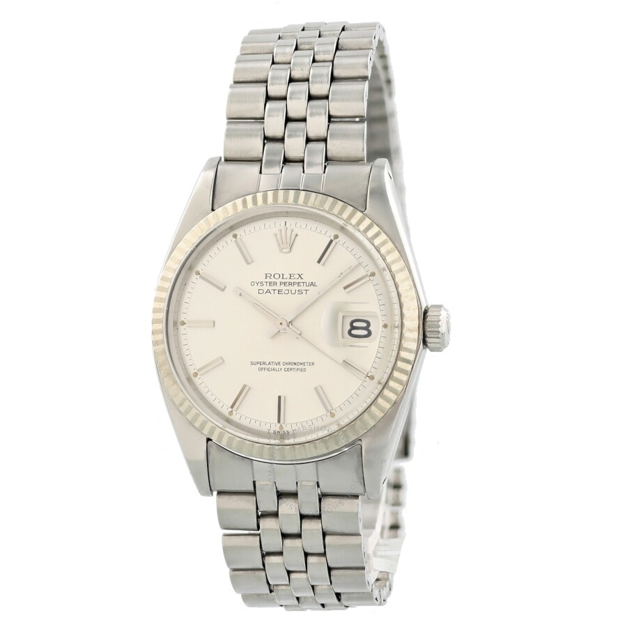 Pre-owned Rolex Datejust Automatic Chronometer Silver Dial Mens Watch 1601 SSJ