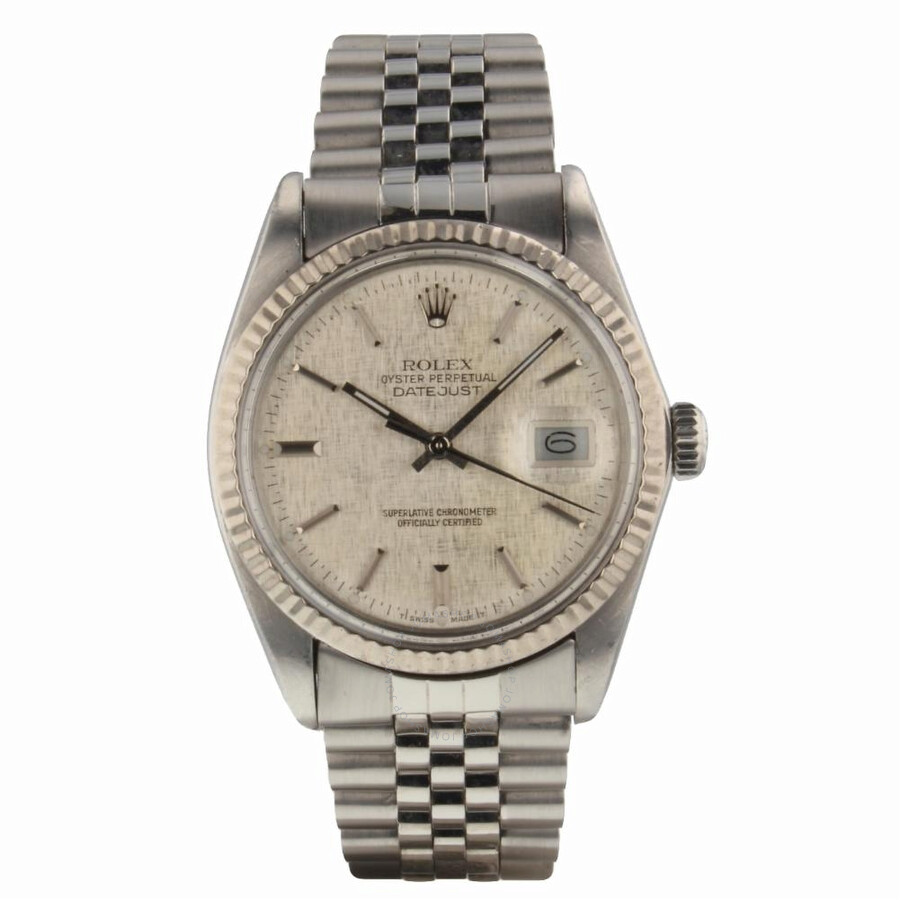 Pre-owned Rolex Datejust Automatic Chronometer Silver Dial Mens Watch 16014 ..
