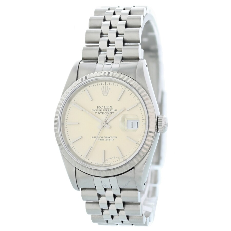 Pre-owned Rolex Datejust Automatic Chronometer Silver Dial Mens Watch 16234 ..