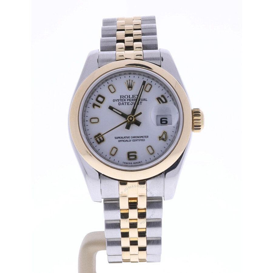 Pre-owned Rolex Datejust Automatic Chronometer White Dial Ladies Watch 17916..