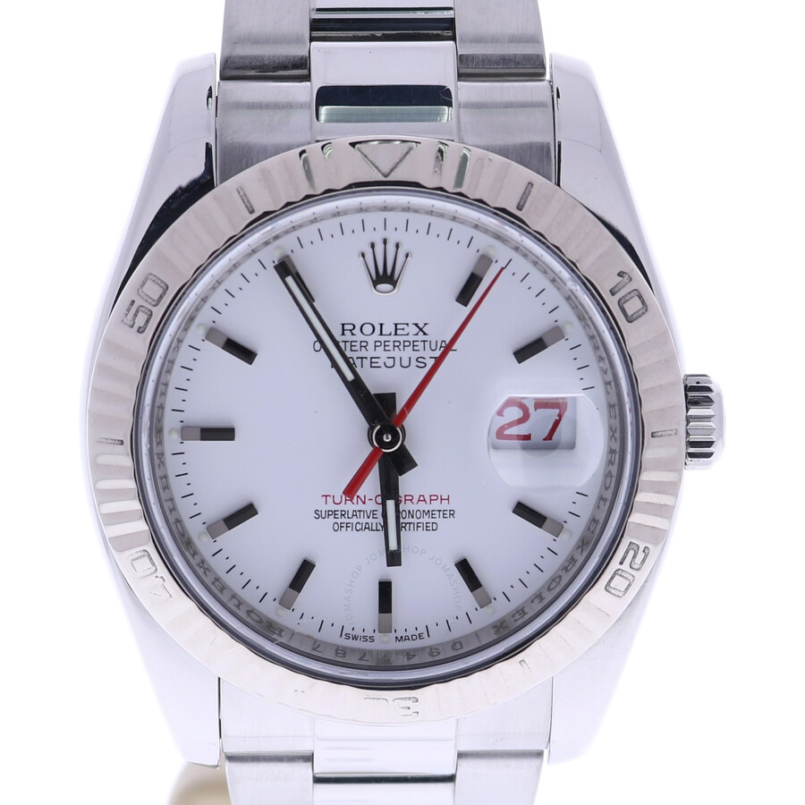 Pre-owned Rolex Datejust Automatic Chronometer White Dial Mens Watch 116234 ..