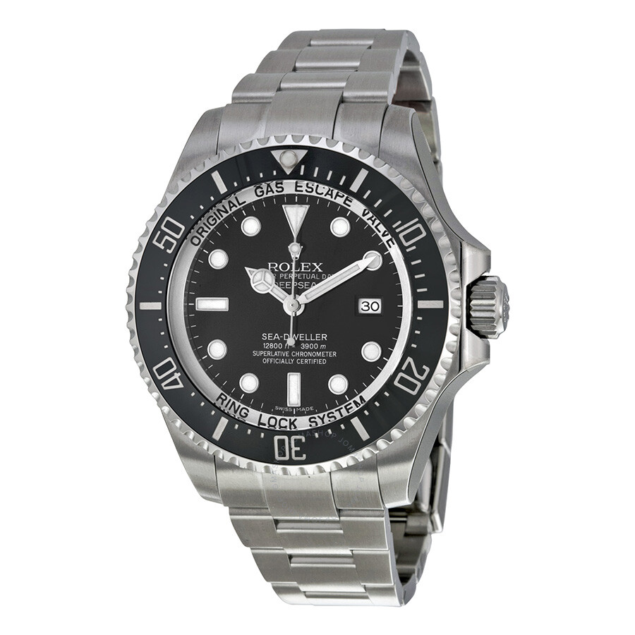 Pre-owned Rolex Deepsea Black Dial Stainless Steel Oyster Bracelet Automatic..